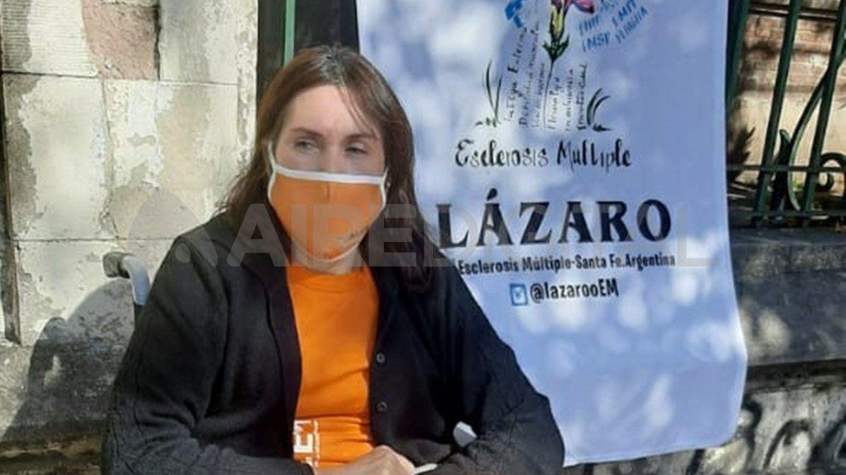 Andrea González padece esclerosis múltiple y