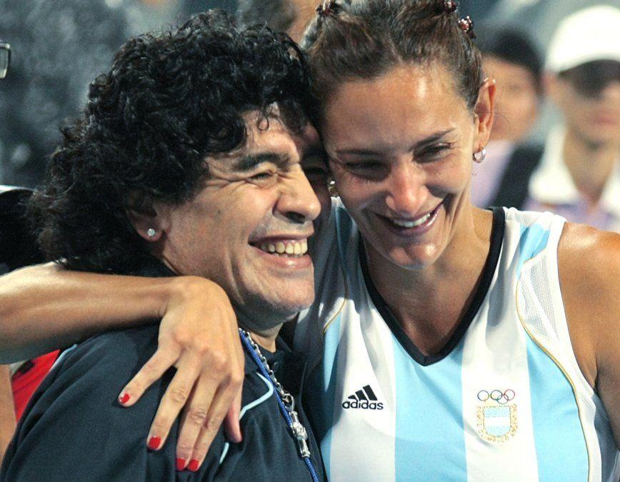 Diego Maradona y Luciana Aymar