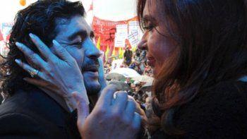 Cristina Kirchner expresó una gran tristeza por la muerte de Diego Maradona