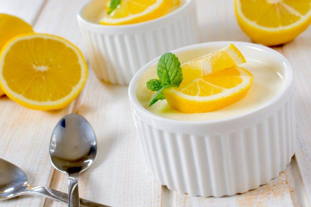 Mousse de limón.