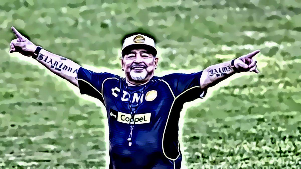Ariel Lento Tarico en una imitación magistral de Diego Armando Maradona