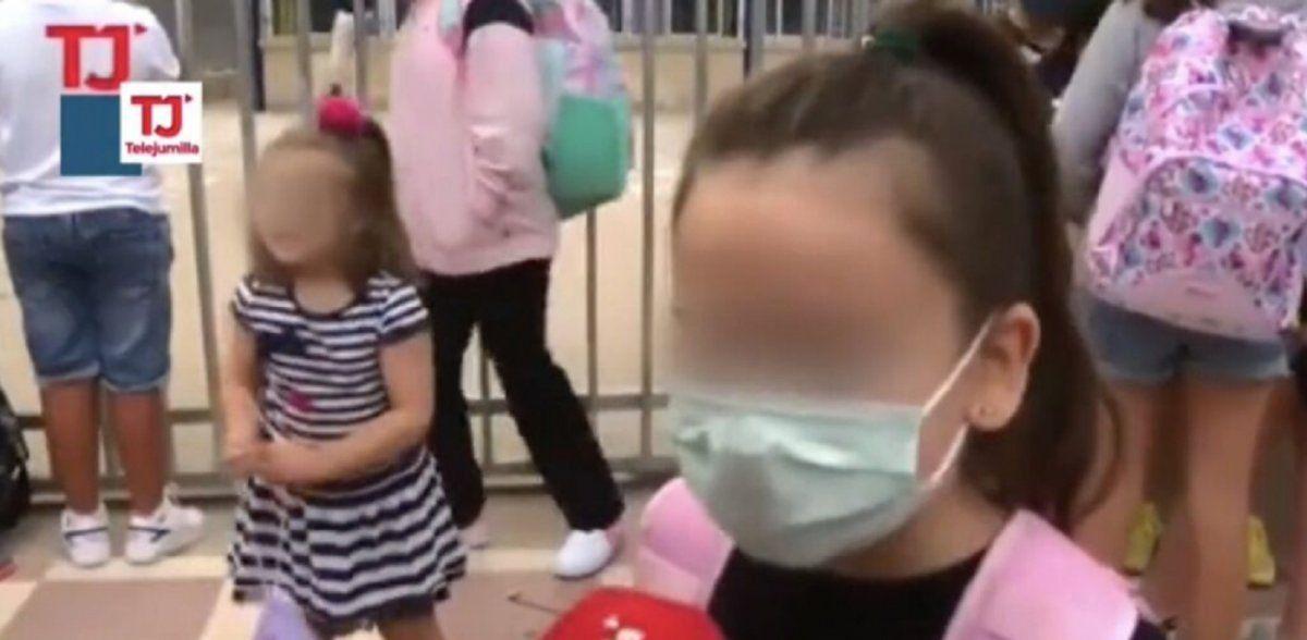 Video viral: una nena opinó sobre el uso de barbijos en las escuelas y sorprendió con sus dichos.