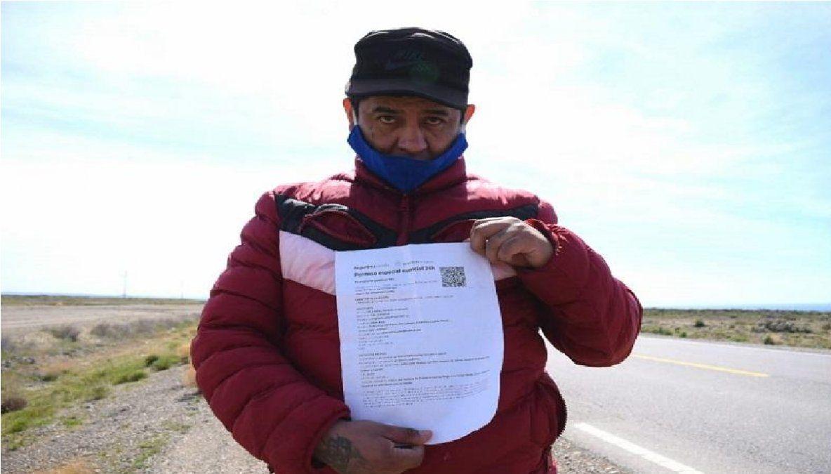 Un salteño decidió volver a pie desde Santa Cruz hasta su provincia: No tengo ni para comer