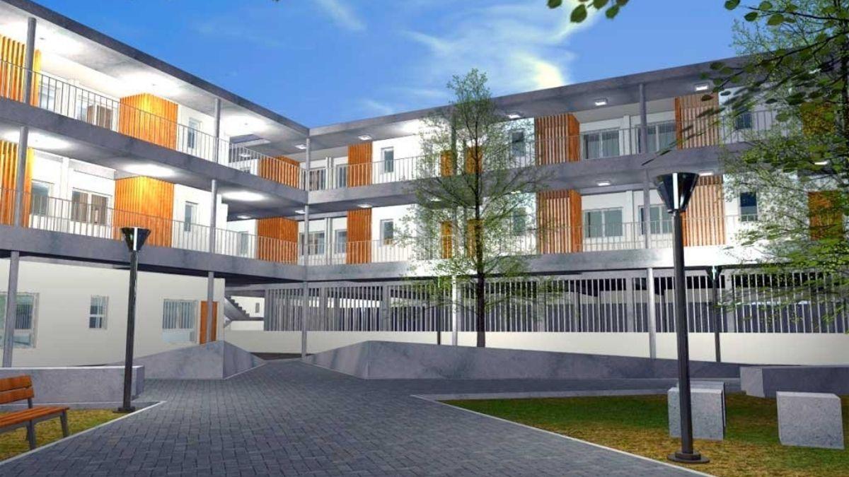 Así se verán las viviendas en Villa Setúbal y el edificio de la UTN.