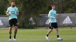 Nicolás Tagliafico entrenó con el resto del grupo de la Selección Argentina y podrá ser tenido en cuenta para el partido ante Perú por las Eliminatorias Sudamericanas.