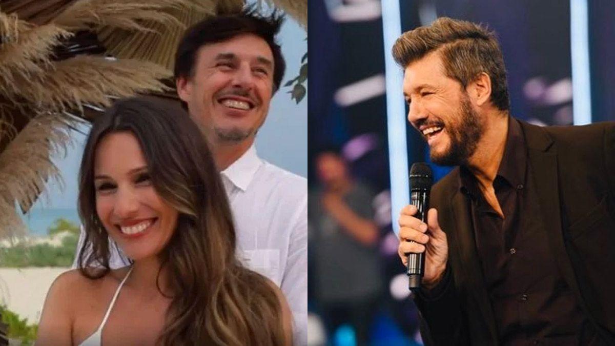 Marcelo Tinelli felicitó a Pampita por el nacimiento de su hija
