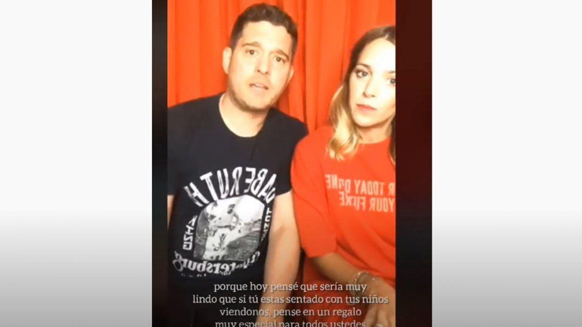 Michael Bublé maltrató a Luisana Lopilato en un vivo y estalló la polémica
