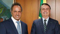 En el encuentro, el mandatario de Brasil le dijo a Scioli que, de corazón, quiere lo mejor para Argentina y le aseveró que ambos países van a trabajar juntos.