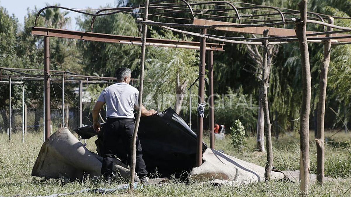 Desarman los refugios instalados en inmediaciones del CIC