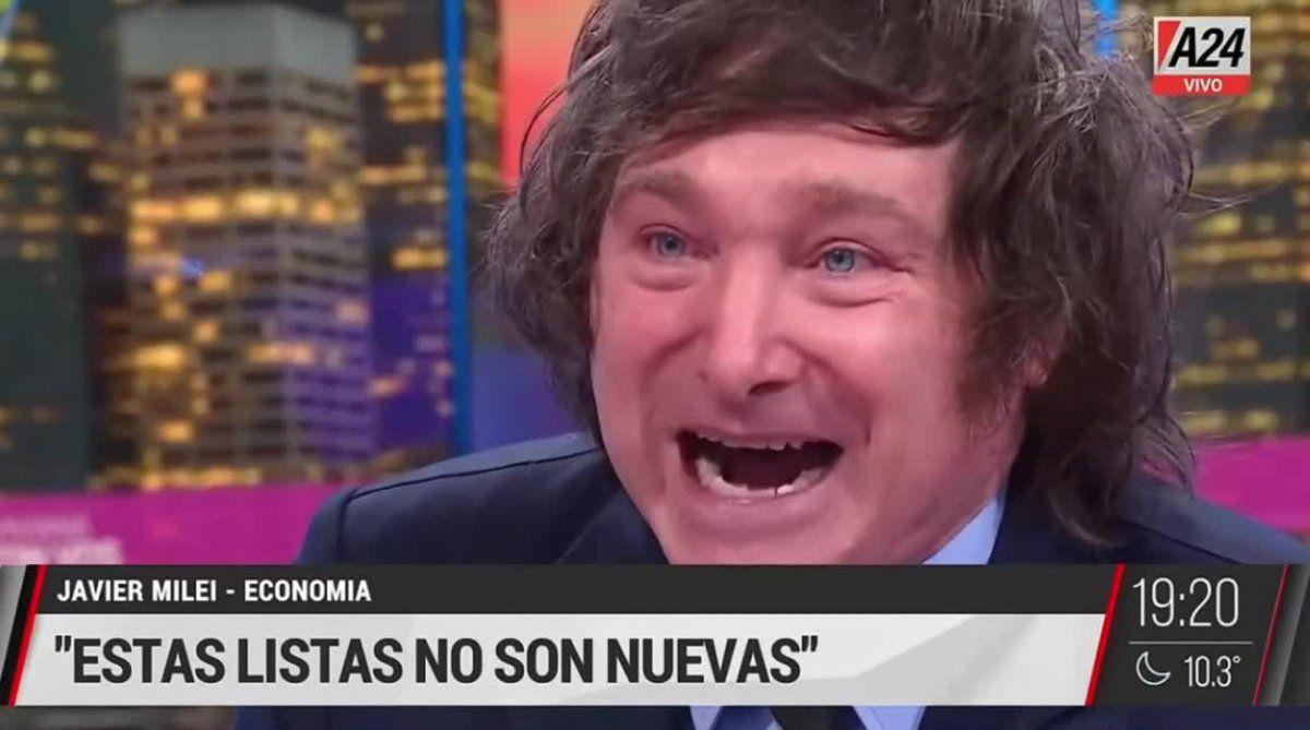 Javier Milei estalló en lo de Viviana Canosa por la lista negra en la que fue escrachado y destruyó a Alberto Fernández