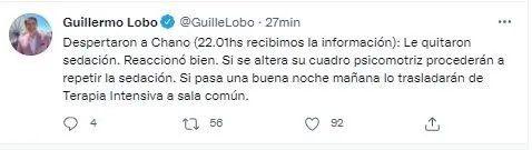 El periodista Guillermo Lobo habló de la salud de Chano y cómo está hoy.