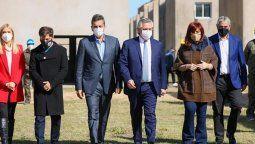 Alberto Fernández encabezó el lanzamiento del Programa Reconstruir para finalizar 55 mil unidades habitacionales iniciadas durante el gobierno de Cristina Fernández.