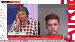En una entrevista con Luis Mino, Felipe Vanrrell, santafesino estudiante de Ciencias Políticas radicado en Alemania, explicó cómo sigue la situación con el coronavirus en el país que lidera Ángela Merkel.