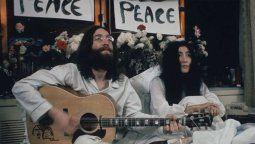 John Lennon y Yoko Ono grabaron un video previo a su aparición pidiendo por la paz en Montreal y las imágenes se difundieron en las últimas horas.