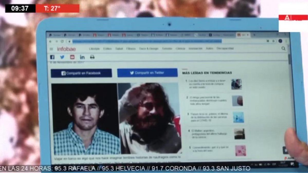 Luis Mino muestra el antes y después de Adam Jones, el hombre que estuvo nueve años perdido en una isla del Pacífico.