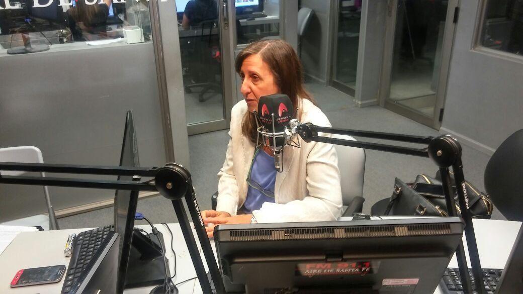 La secretaria de Niñez de la provincia de Santa Fe, Patricia Chialvo