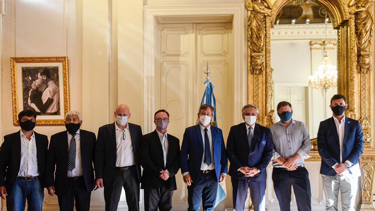 El presidente Alberto Fernández recibió este lunes