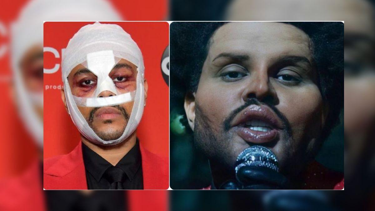The Weeknd impactó a todo el público con su nueva imagen