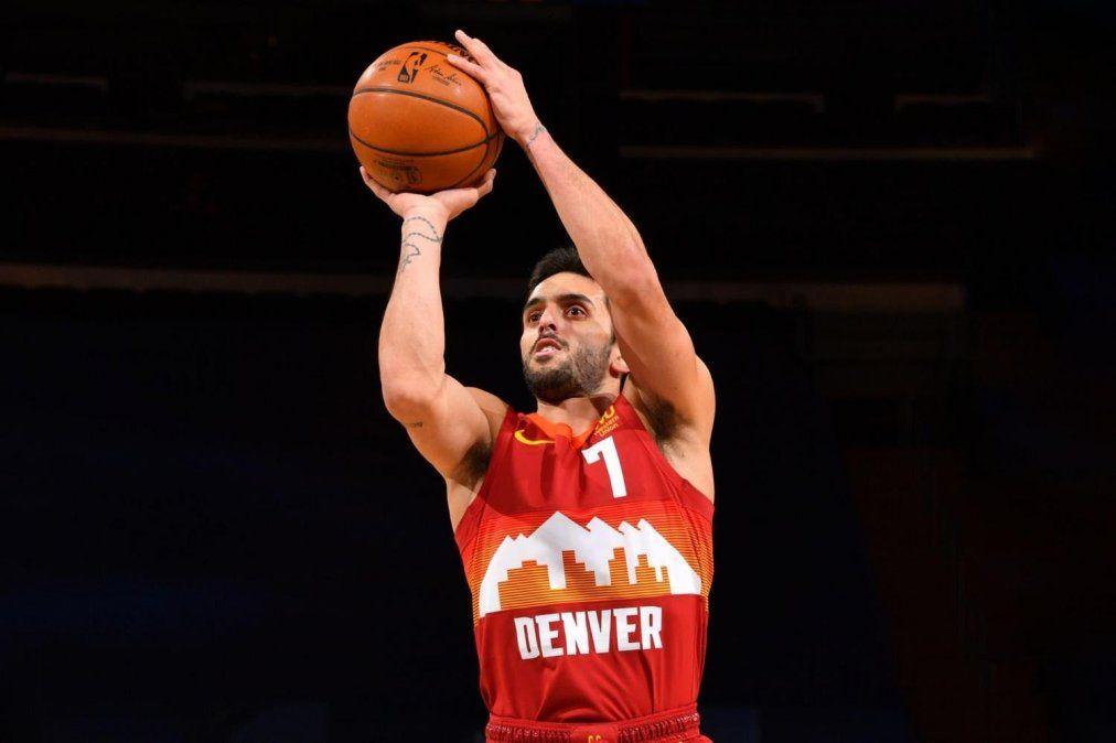 Facundo Campazzo jugó 11 minutos en la derrota de los Denver Nuggets ante Brooklyn por la NBA.