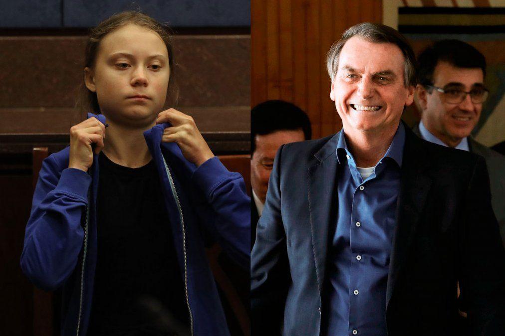 Bolsonaro llama mocosa a Greta Thunberg y ella le responde de manera contundente