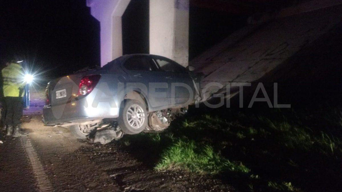 Producto del impacto el conductor perdió la vida cuando circulaba por el corredor provincial.