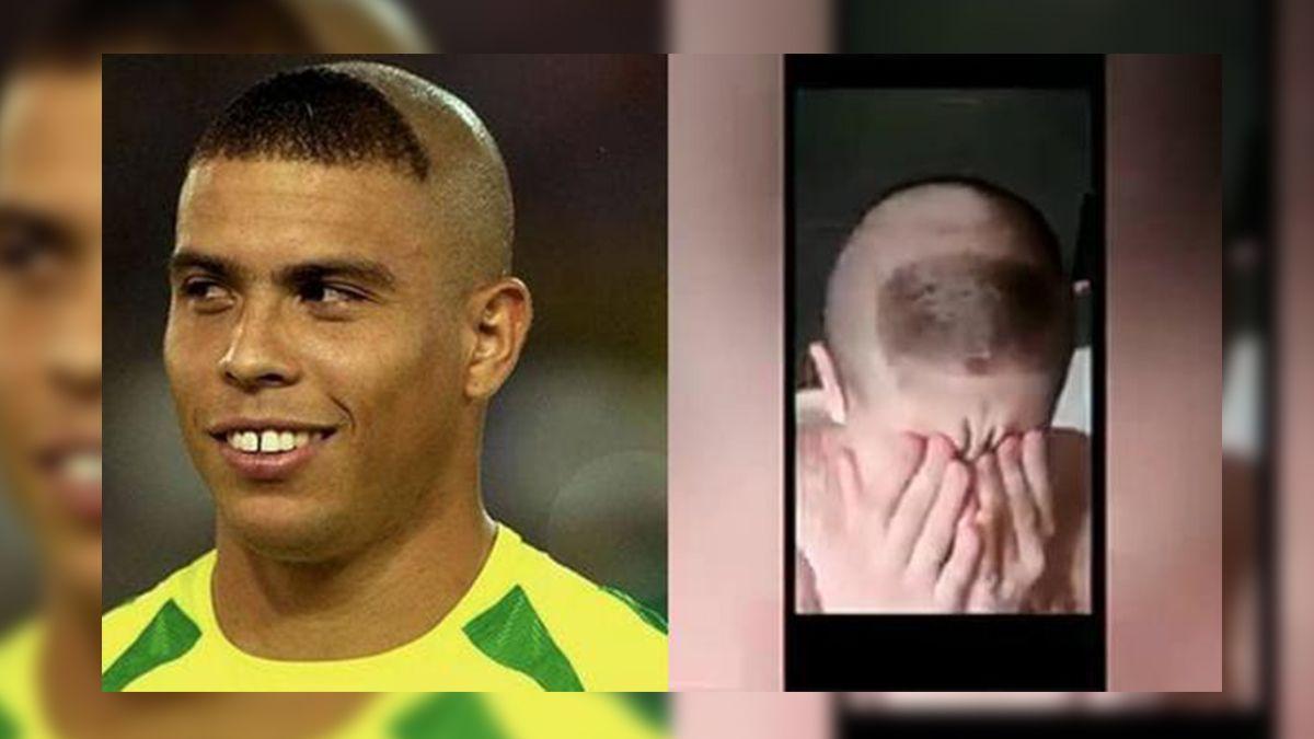 El niño le pide a su padre el corte de Critiano Ronaldo