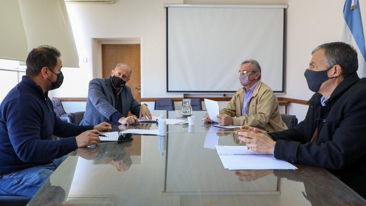 En la reunión que mantuvieron el Gobernador Omar Perotti