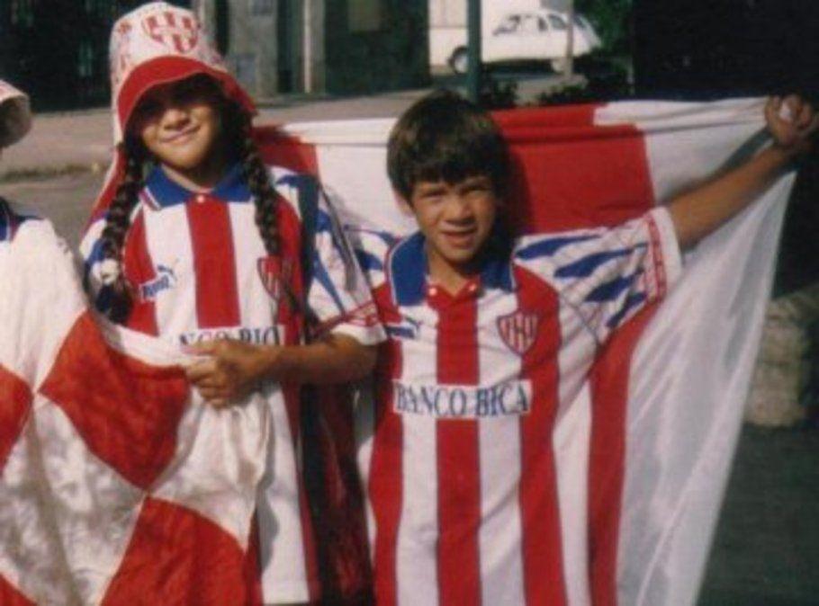 Diego Barisone en su infancia