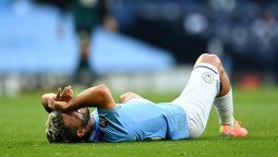 El delantero argentino debió salir sustituido antes del final del primer tiempo del encuentro entre el Manchester City y el Burnley, en un encuentro correspondiente a la Premier League.