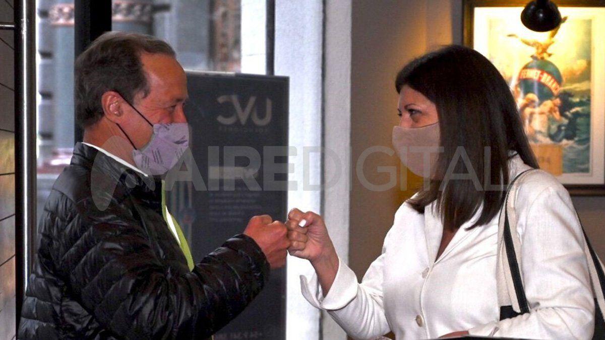 Tras su victoria en la interna del FAP, Clara García se reunió con Rubén Giustiniani