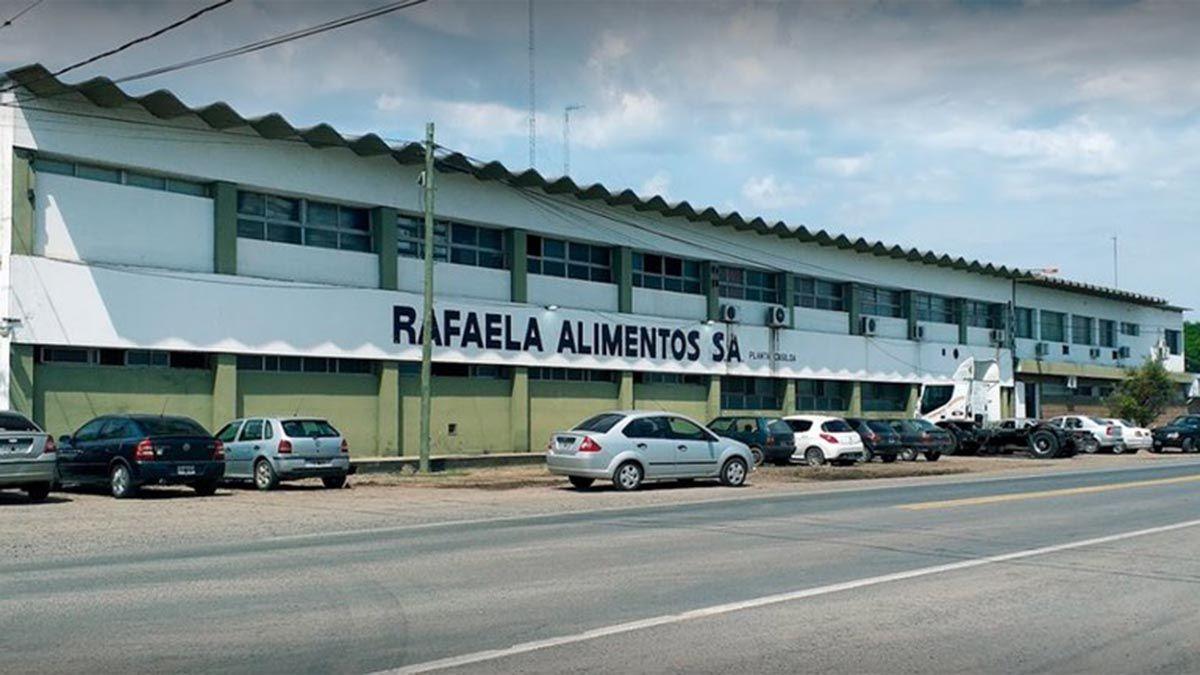 La planta de Rafaela Alimentos S. A. de Casilda dejará de trabajar desde este miércoles.