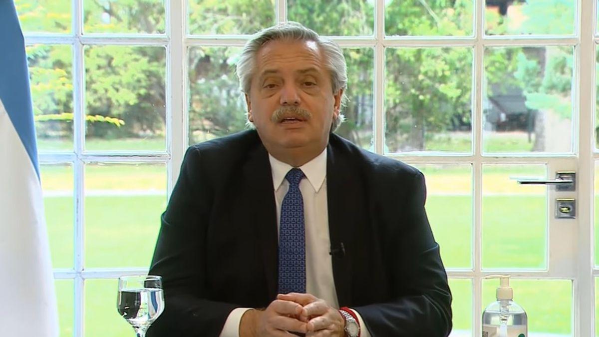 Alberto Fernández habló este martes desde la Quinta de Olivos.