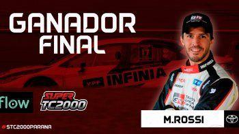Matías Rossi ganó en Paraná y quedó a un paso del título en el Súper TC2000