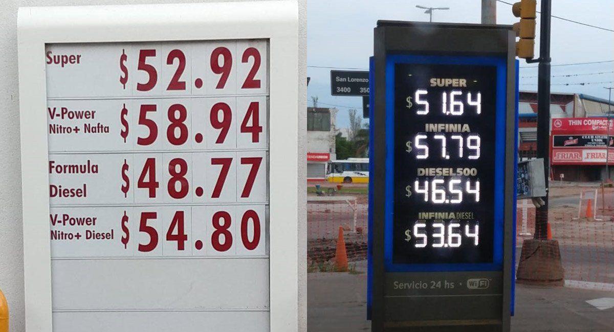 Desde la medianoche, aumentaron un 5% las naftas y el gasoil, según lo autorizó el Gobierno