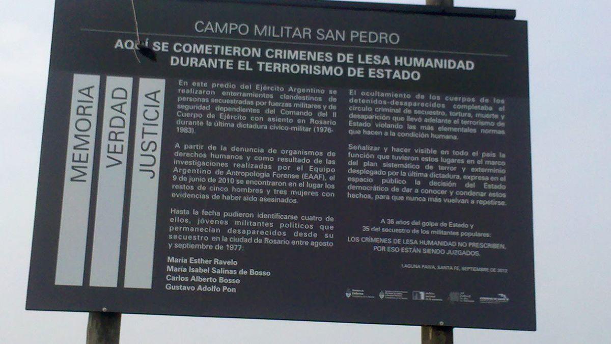 Entierros clandestinos en la dictadura: realizaron inspecciones en el campo militar de San Pedro