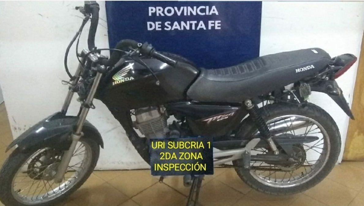 La moto robada fue recuperada días después