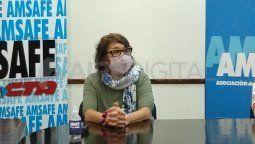 Sonia Alesso, titular de Amsafe, pidió que se tengan en cuenta los índices epidemiológico a la hora de determinar dónde regresan las clases presenciales.