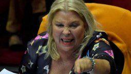 La líder de la Coalición Cívica, Elisa Carrió, apuntó contra el presidente de la Cámara de Diputados, Sergio Massa, por sesionar sin el consentimiento de Juntos por el Cambio, la segunda mayoría en el Congreso.