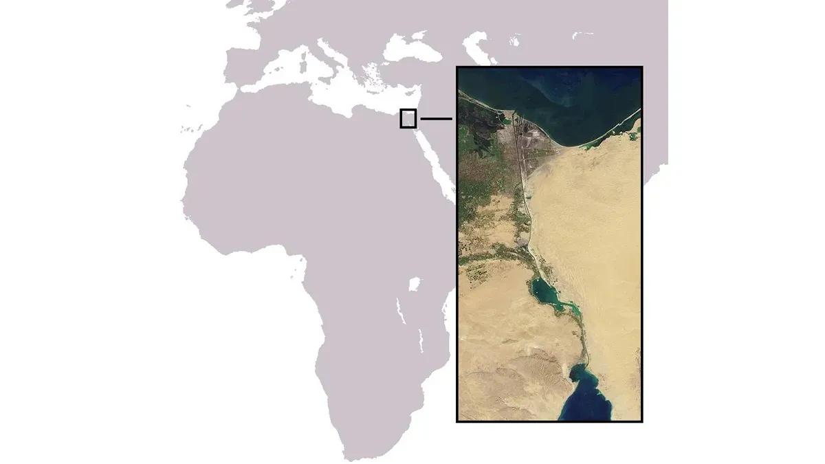 El Canal de Suez es una de las principales vías de comunicación comercial entre Asia, África y Europa.