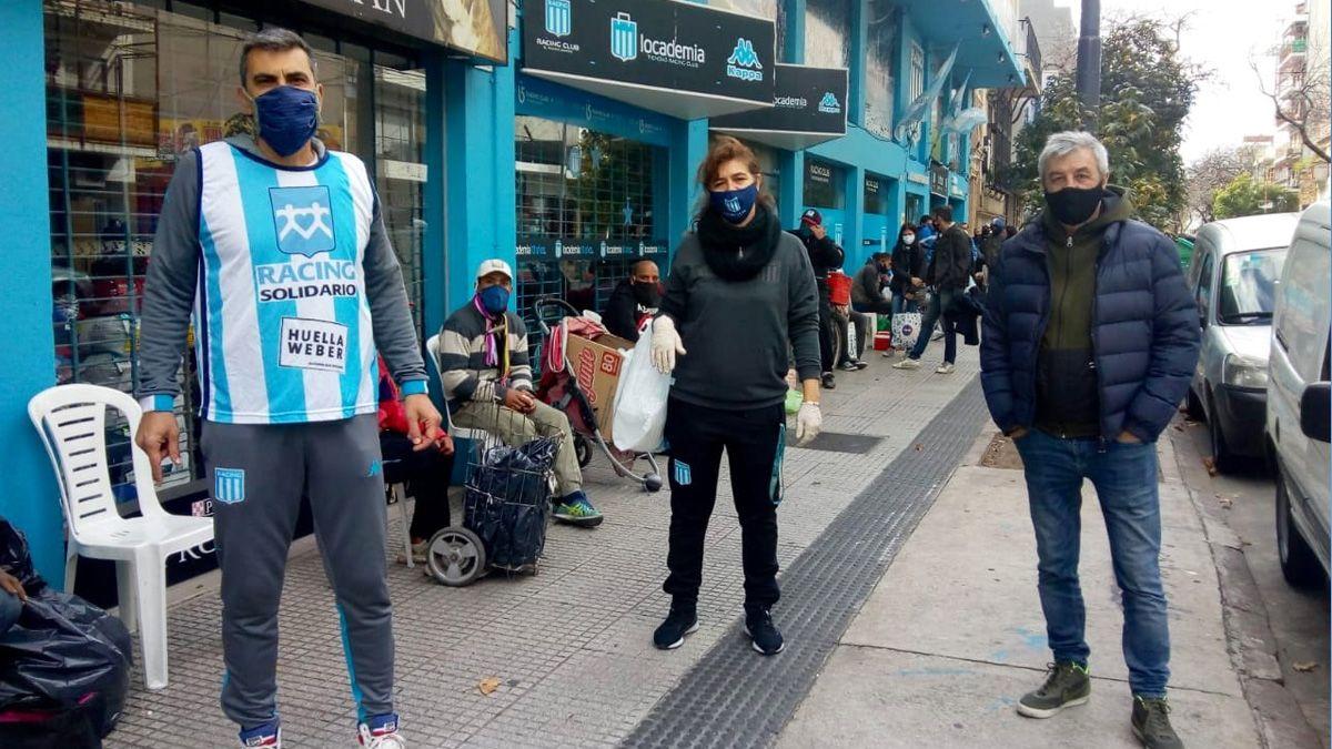 La solidaridad estuvo vigente en la sede de Racingde Villa del Parque.