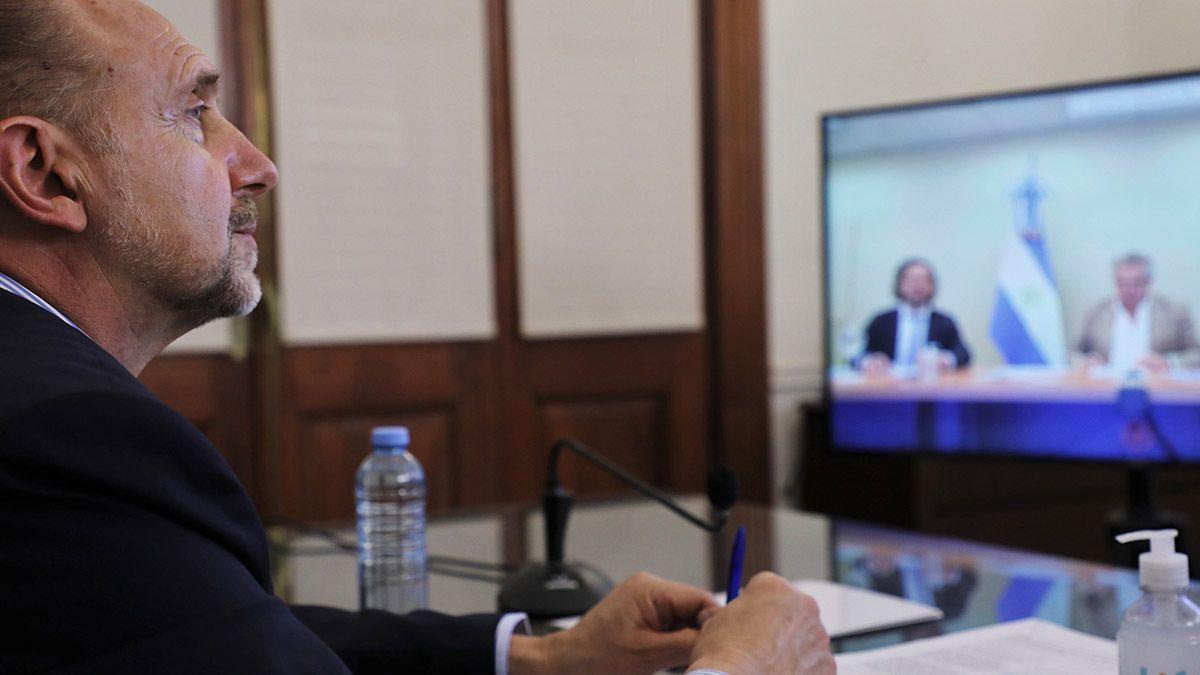 El gobernador de Santa Fe mantendrá una reunión virtual con el presidente de la Nación