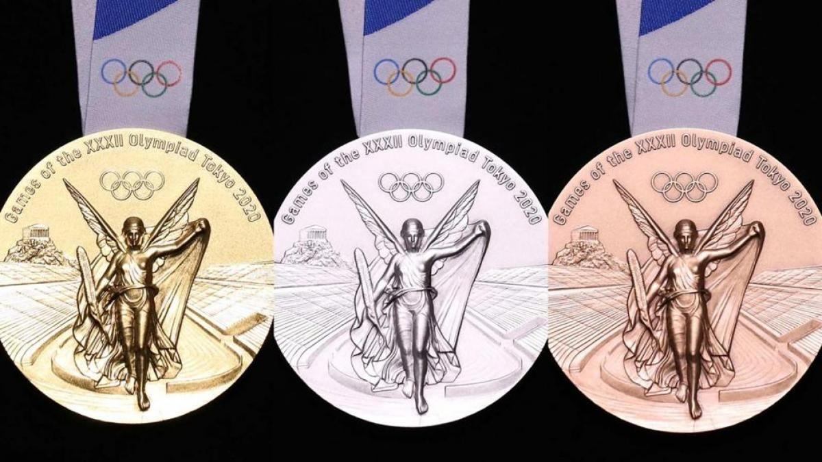 Las medallas de los Juegos Olímpicos de Tokio fueron hechas a partir de basura electrónica.
