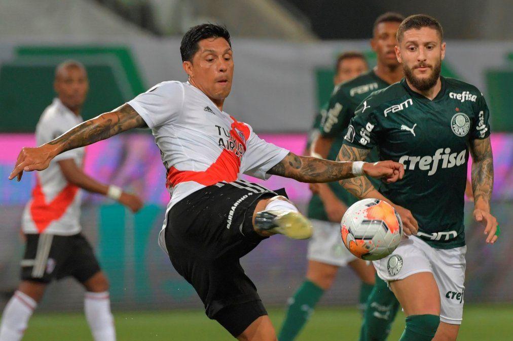 River no pudo revertir la serie ante Palmeiras por Copa Libertadores pero Enzo Pérez destacó el espíritu del equipo.