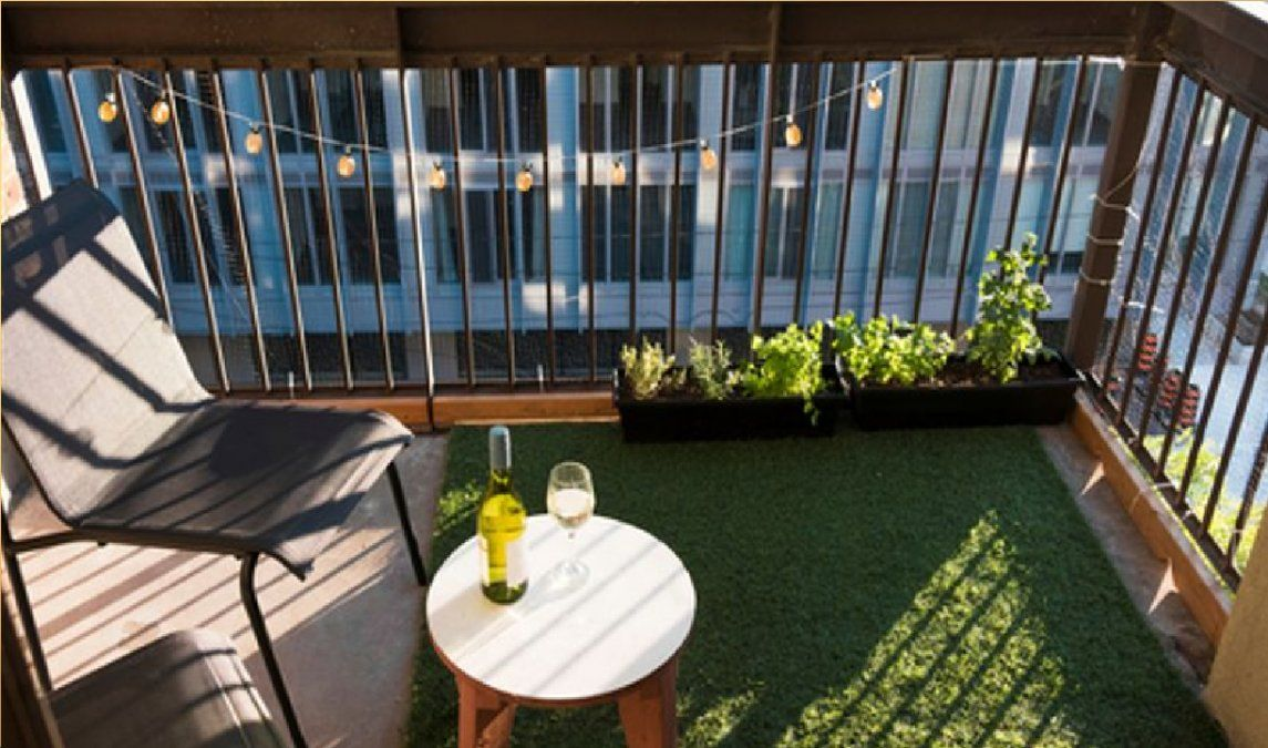 Césped artificial para balcones y terrazas