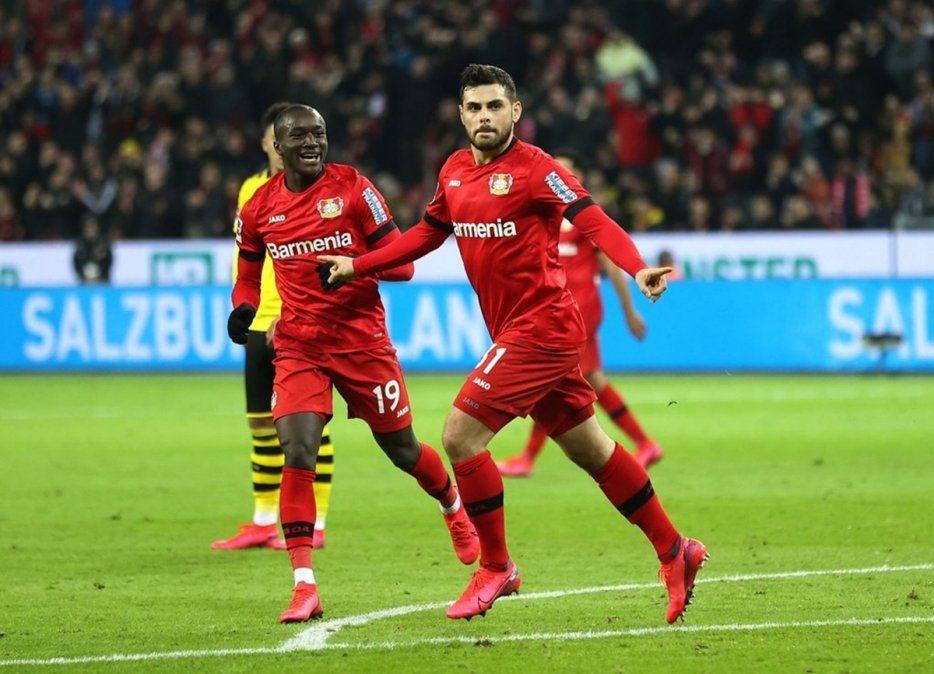 En un partidazo, el Bayer Leverkusen derrotó 4-3 al Borussia Dortmund