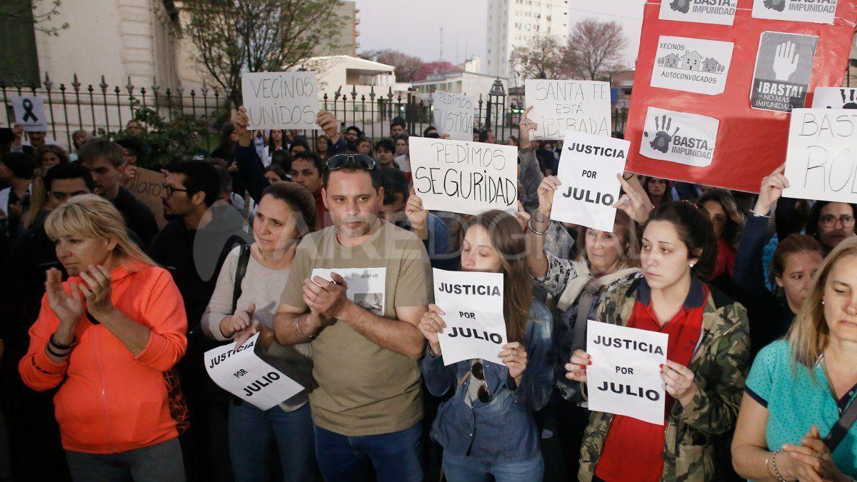 Los reclamos de justicia tras el crimen de Julio Cabal