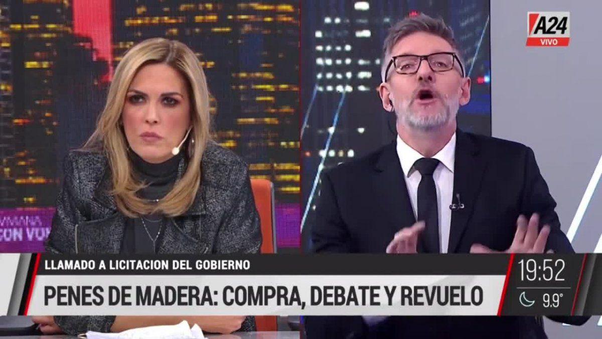 Terrible y escandaloso cruce entre Viviana Canosa y Luis Novaresio.