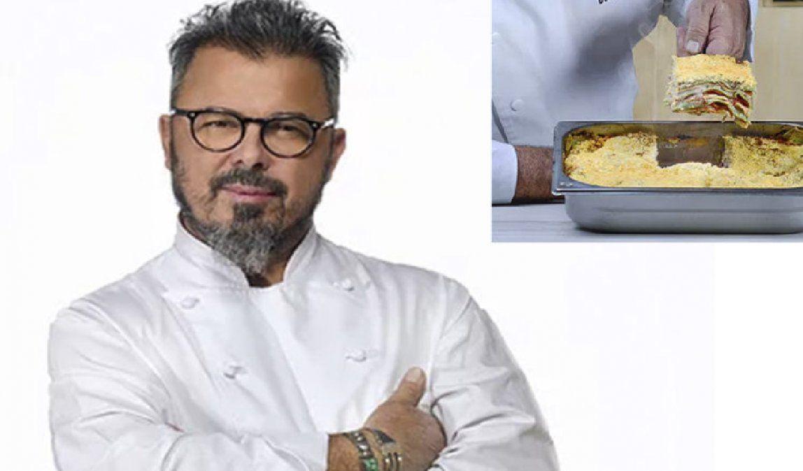 Cómo hacer la receta de lasaña a la boloñesa de Donato De Santis