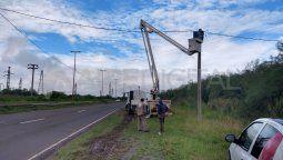 Ya se arreglaron las luminarias de los primeros 400 metros de la mano que va hacia el sur en el tramo de que va desde la Autopista Santa Fe-Rosario hasta el rulo de Cilsa en la Circunvalación Oeste.