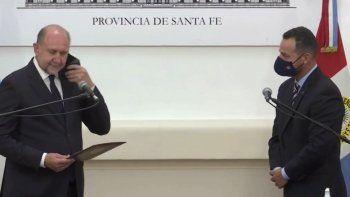 Omar Perotti puso en funciones a los nuevos ministros de su gabinete